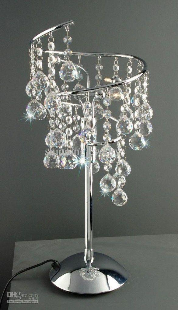 Pretty Chandelier Lamp Design Ideas For, Bedside Table Chandelier Lamps