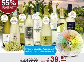 Ebrosia: Weißwein-Probierpaket mit Aromenrad für 39,90 Euro frei Haus https://www.discountfan.de/artikel/essen_und_trinken/ebrosia-weisswein-probierpaket-mit-aromenrad-fuer-3990-euro-frei-haus.php Pünktlich zum Start in die Sommer- und Grillsaison gibt es bei Ebrosia ab sofort ein Weißwein-Probierpaket mit neun verschiedenen Rebensäften zum Schnäppchenpreis von 39,90 Euro frei Haus. Mit dabei ist ein Aromenrad, das die Verkostung erleichtern soll. Ebrosia: Weißwein-P