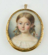 Victorian portrait miniature, c 1847