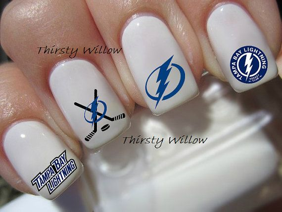 Tampa Bay Lightning Nail Decals By Thirstywillow On Etsy