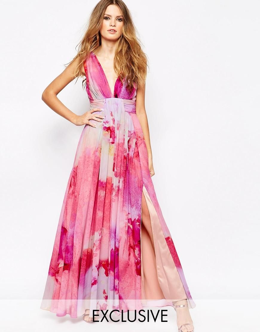 Fame and Partners | Fame and Partners Valencia Pleated Maxi Dress ...