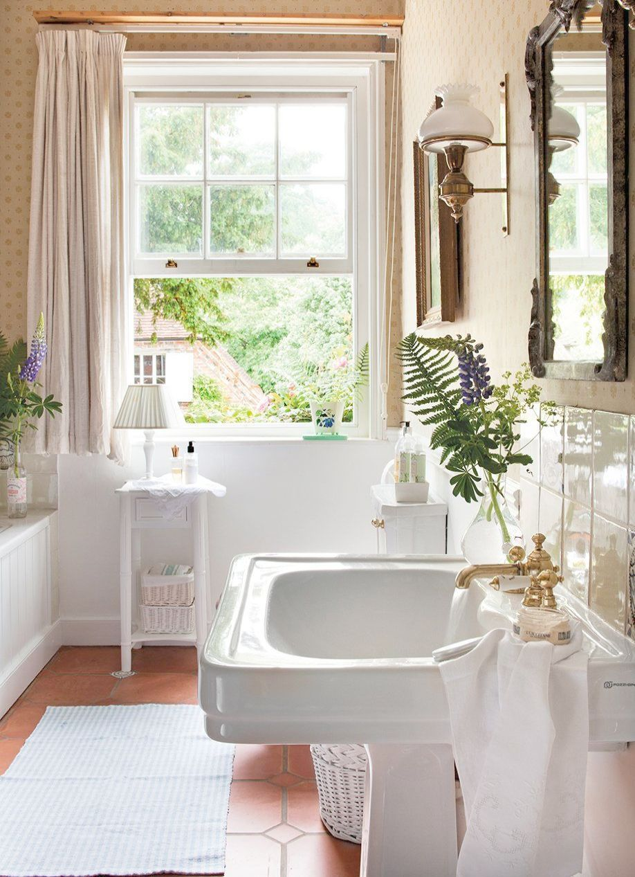 Rustic Bathroom Ideas Log Cabins Country Braided Bathroom Rugs ...