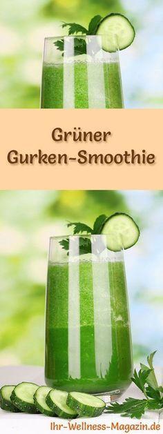 Grüner Gurken-Ingwer-Smoothie - Rezept fürs Immunsystem, zum Abnehmen und Entgiften #fruitsmoothie