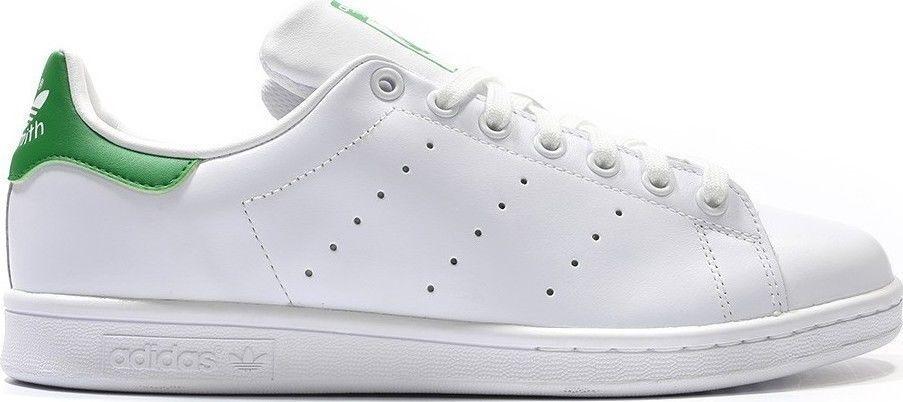 Adidas Originals MENS Stan Smith zapatillas blancas Green UK TAMAÑOS ...