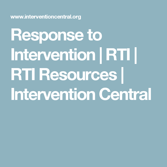 Response To Intervention Rti Rti Resources Response To Intervention Intervention Rti Learn how a country's central bank can intervene to affect the value of the country's currency in a learn the mechanism and purpose of a central bank sterilized intervention in a forex market. pinterest