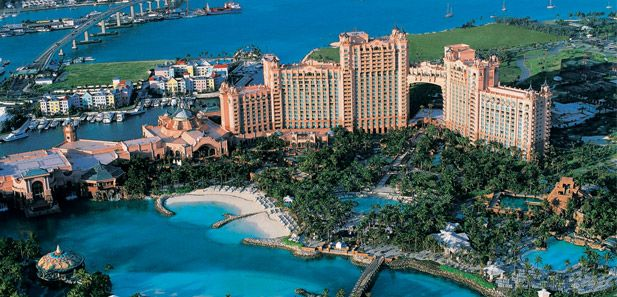 Atlantis - swim with the dolphins and gamble...perfect