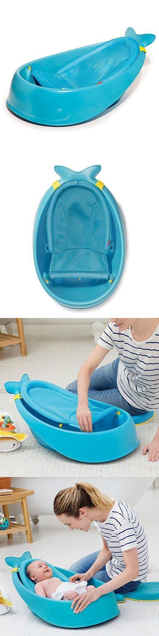 New Model Skip Hop Moby Bath Smart Sling 3 Stage Bathtub Blue