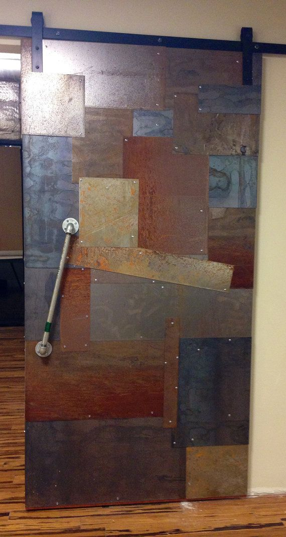 Reclaimed Distressed Weathered Sheet Metal Clad By