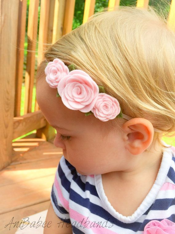 Felt Flower Headband, Baby Headband, baby flower headband, Flower Crown Headband, Flower Headband, Felt Flowers, Baby Accessories #feltflowerheadbands