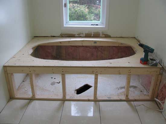 Ceramic tile Jacuzzi Tub and Deck - how to build | Home Decor ...