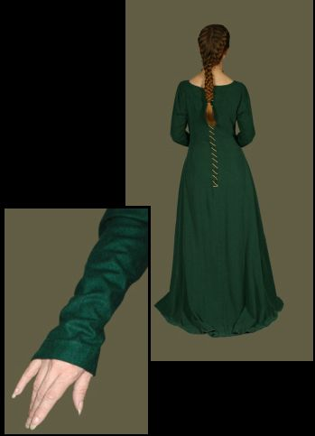 Medieval Clothing and Footwear- 14th Century Silk Gown