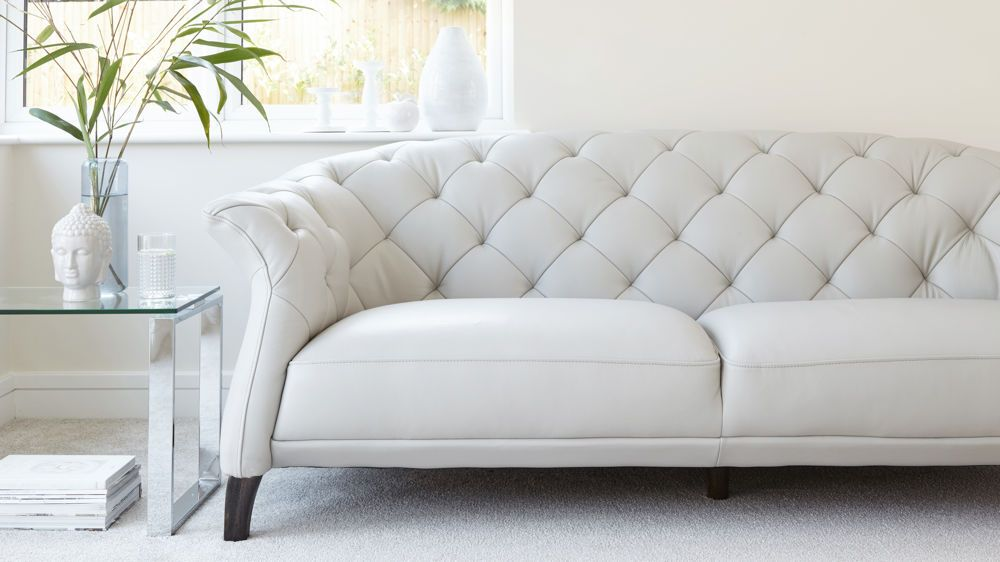 Luxe Modern 2 to 3 Seater Leather Chesterfield Sofa | sofas ...