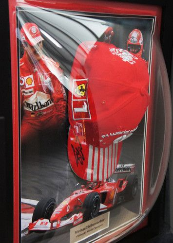 Authentic Hand Signed Michael Schumacher Ferrari 7x F1 World Champion Display This Cap Was Issued To Commemorate Hi Michael Schumacher Ferrari F1 Nelson Piquet
