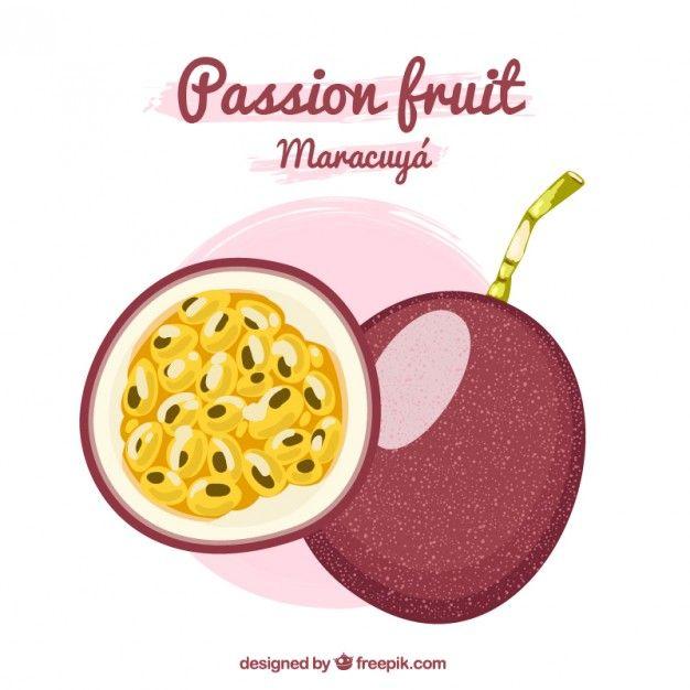 Free Vector Passion Fruit Maracuya 11448 Fruit Vector Passion Fruit Fruit Logo