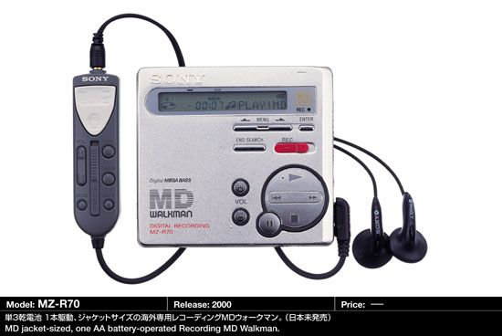 Mini Disc RZ-R70, siempre quise tener uno