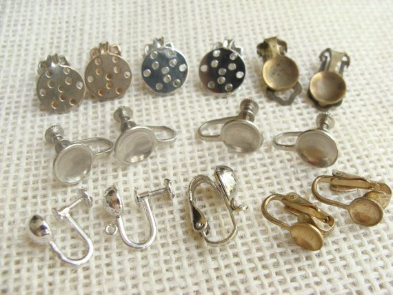 Clip On Back Earring Finding Lot Jewelry Supply Craft For
