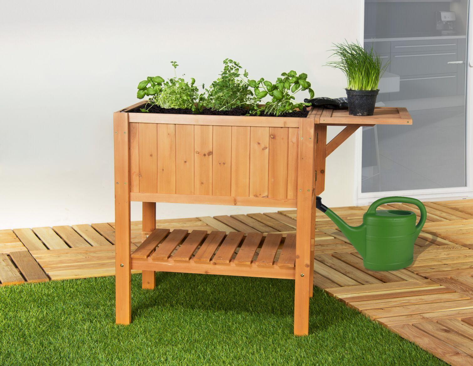 home & garden 301220108-he hochbeet beet floralis aus holz höhe 80cm