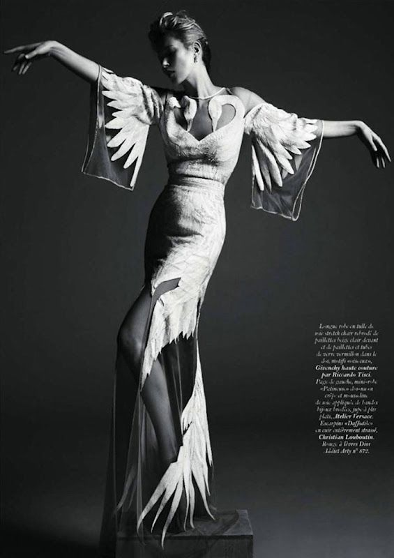 Kate Moss for Vogue Paris May 2011 Photographed by Mert & Marcus, Dress by Givenchy Haute Couture.
