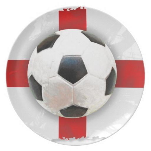 English Soccer Party Plates #England #Soccer #Plate