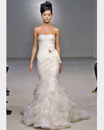 Fall 2011 mermaid wedding dress