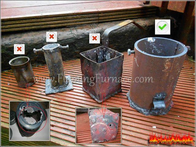 foundry metal crucible