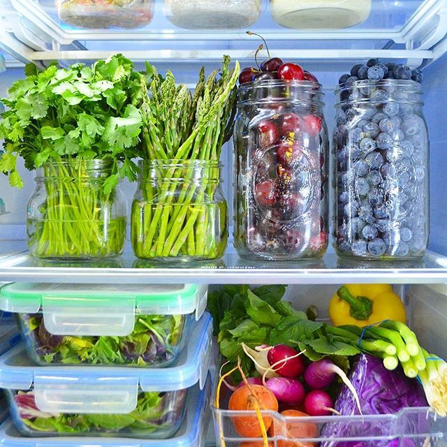 Glass Jars Fridge Organization Healthy Fridge Fridge Storage