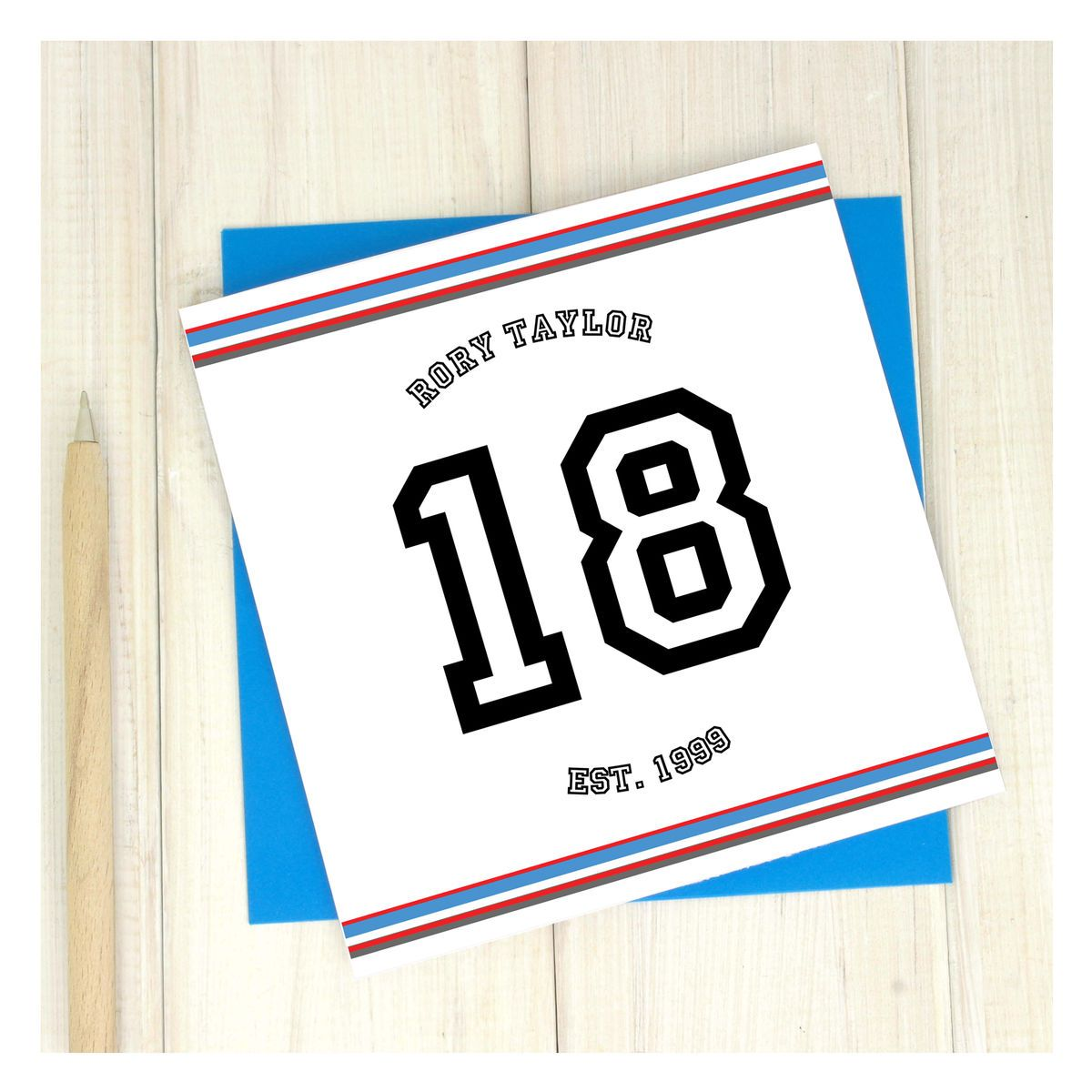 Image result for personalised 18th birthday cards for him