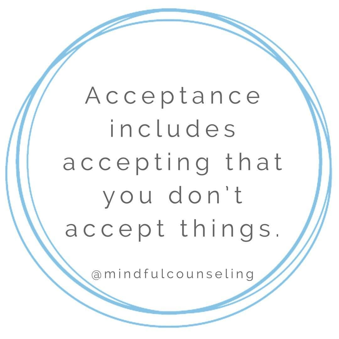 Radical acceptance•• This is a dialectical behavior