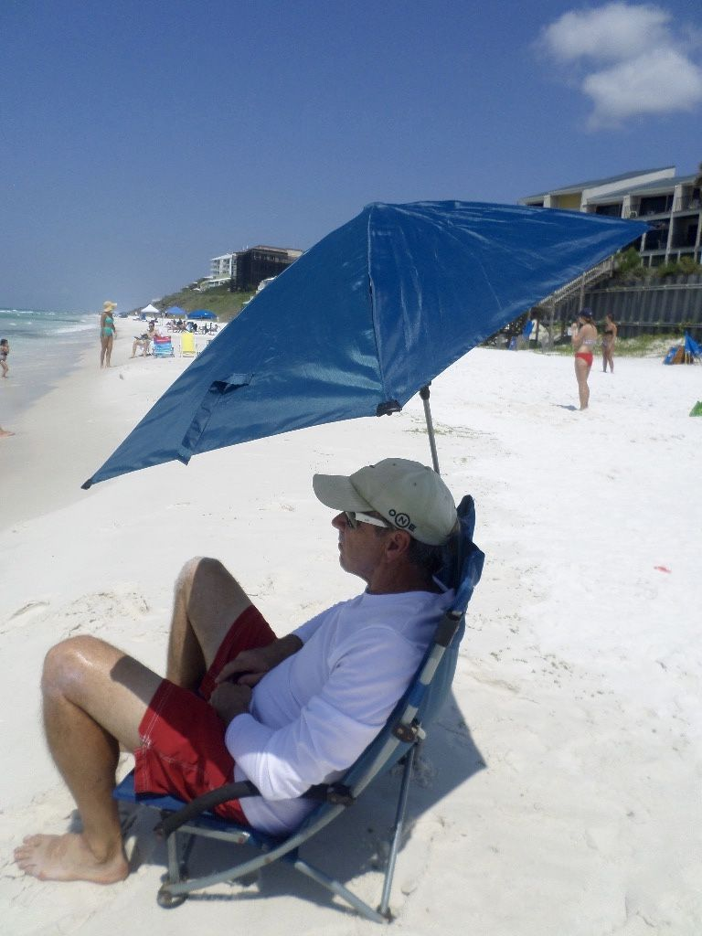 This Clamp On Umbrella Goes With You Wherever Want To Place Your Beach Chair