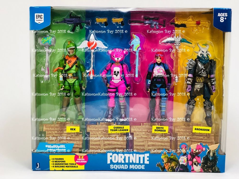 Fortnite Squad Mode 4 Action Figure Pack A Boxed Set Toy Gift 17pc
