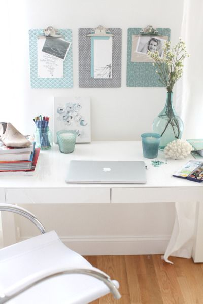 how to decorate your office cubicle for simple touches of color decorate your desk with mint green theme we love how this draws inspiration from soft coastal and natural elements 12 ways to decorate with the color mint deco ideas pinterest