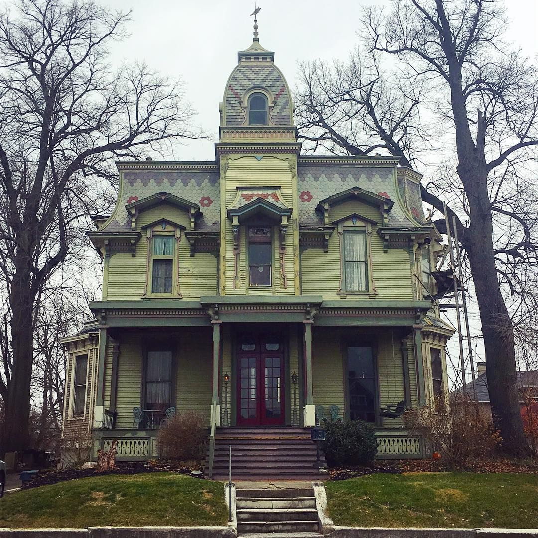 1876 Francis Bookwalter House Springfield Ohio Creepy Houses Victorian Homes Gothic House