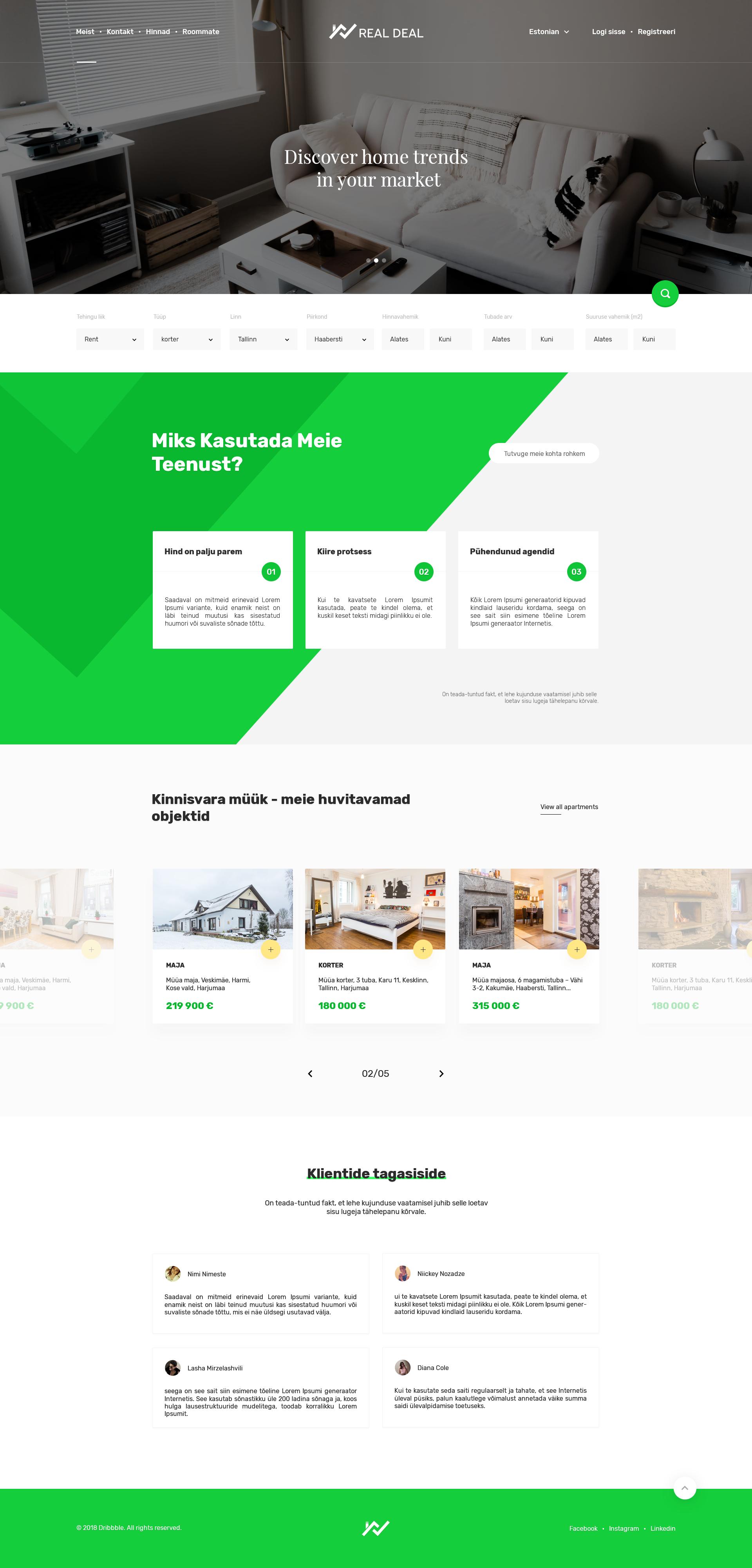 Front Page Web Design Interactive Design Design