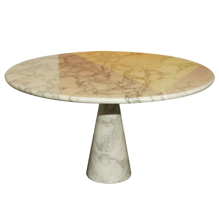 Italian Marble Dining Table by Mangiarotti