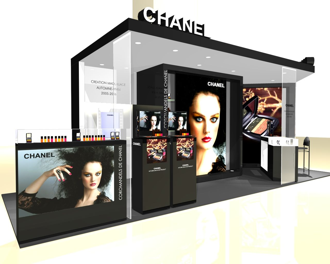 Exhibition Display Racks : Stunning chanel booth and graphics exhibitdesign