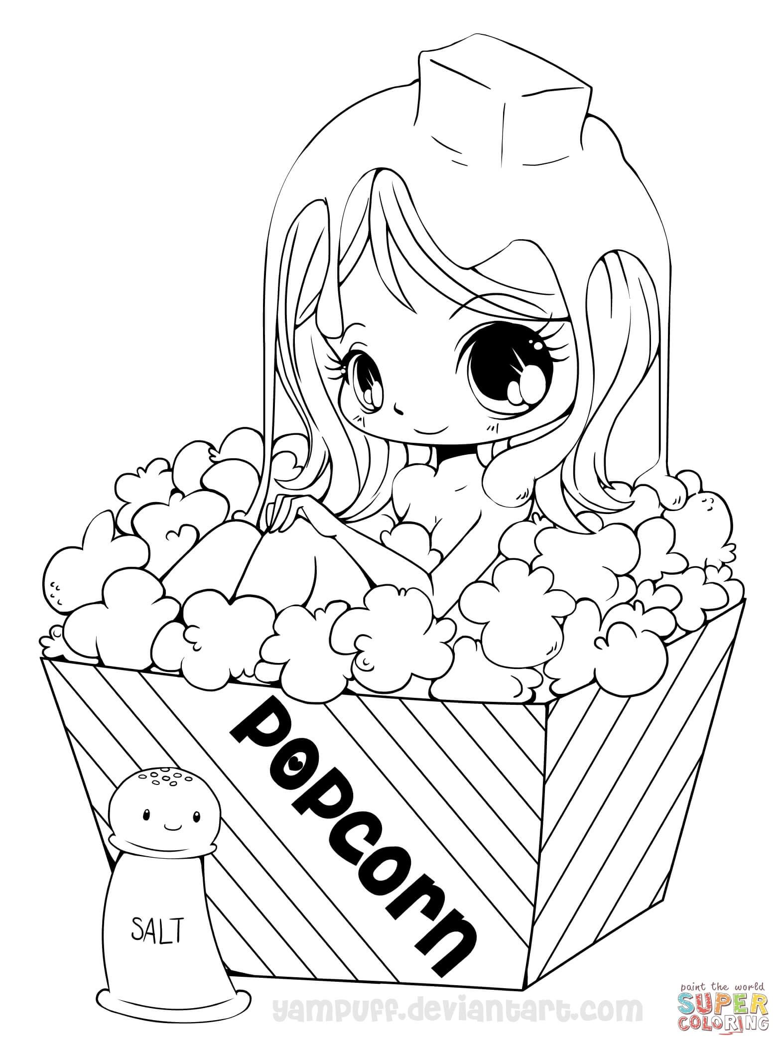 Anime Girls Coloring Pages Free Coloring Pages Cartoon