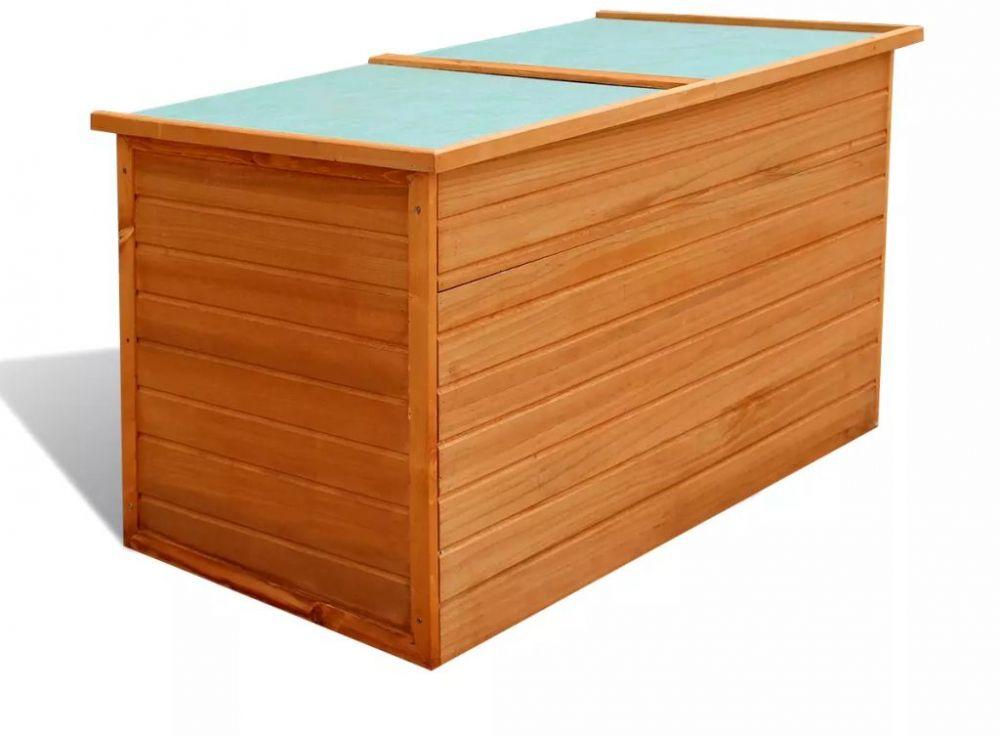 H4home Outdoor Storage Chest Box Wood, Outdoor Wooden Storage Box Waterproof