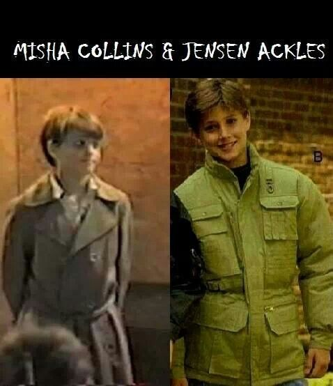 Misha wore a trench coat even as a child ! | Supernatural ...