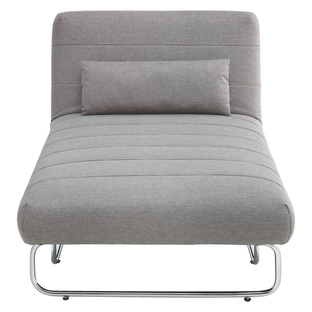SIBU Grey Fabric Chaise Sofa Bed | Buy Now At Habitat UK | Spare