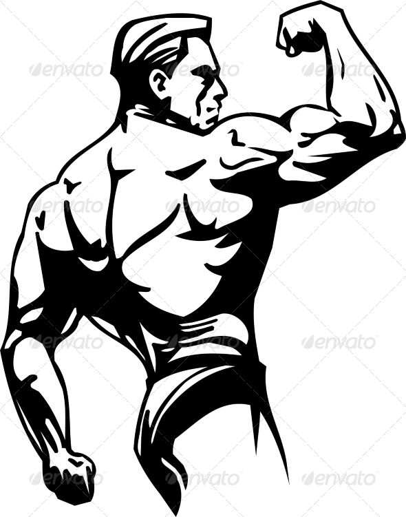 Bodybuilding And Powerlifting Bodybuilding Logo Sketches Transformers Artwork
