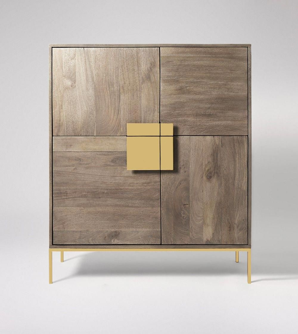 Banner Sandblasted Grey Cabinet | Swoon Editions ...