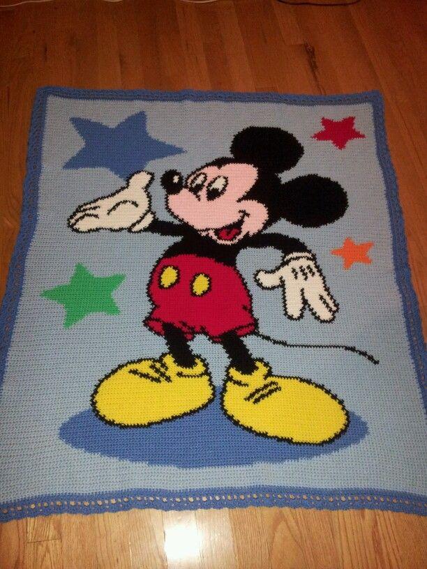 Mickey mouse afghan | Moms crochet Afghans | Pinterest