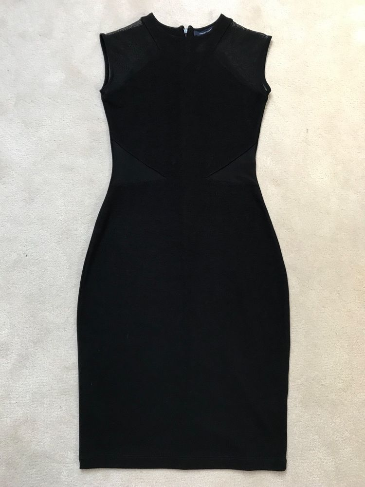34dcecc152f Black French Connection bodycon dress. Mesh cutout to shoulders #fashion # clothing #shoes #accessories #womensclothing #dresses (ebay link)