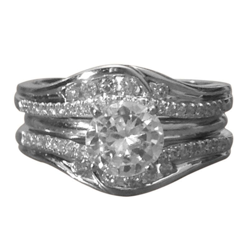 details about solitaire enhancer diamonds ring guard