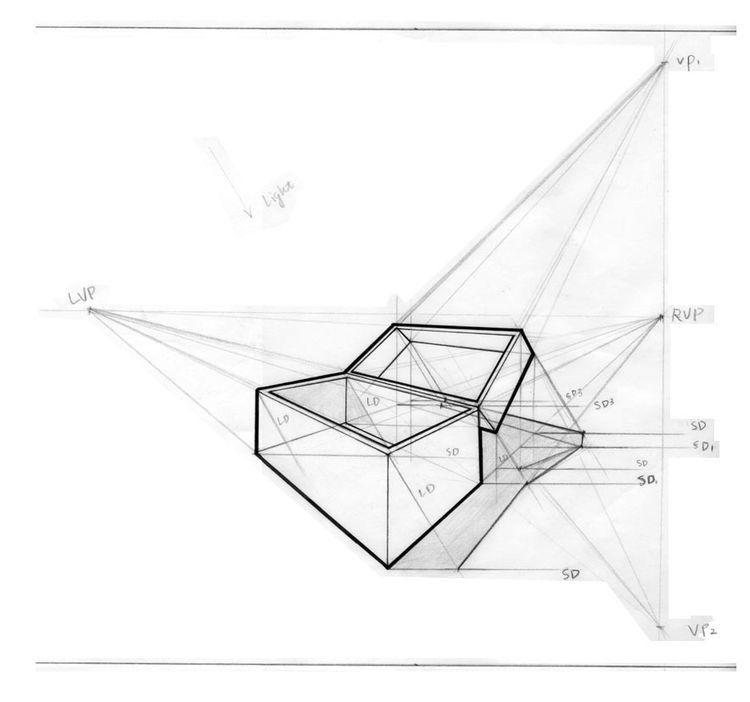 Proyeccion De Sombra Dibujos De Geometria Dibujo Perspectiva Como Dibujar En Perspectiva