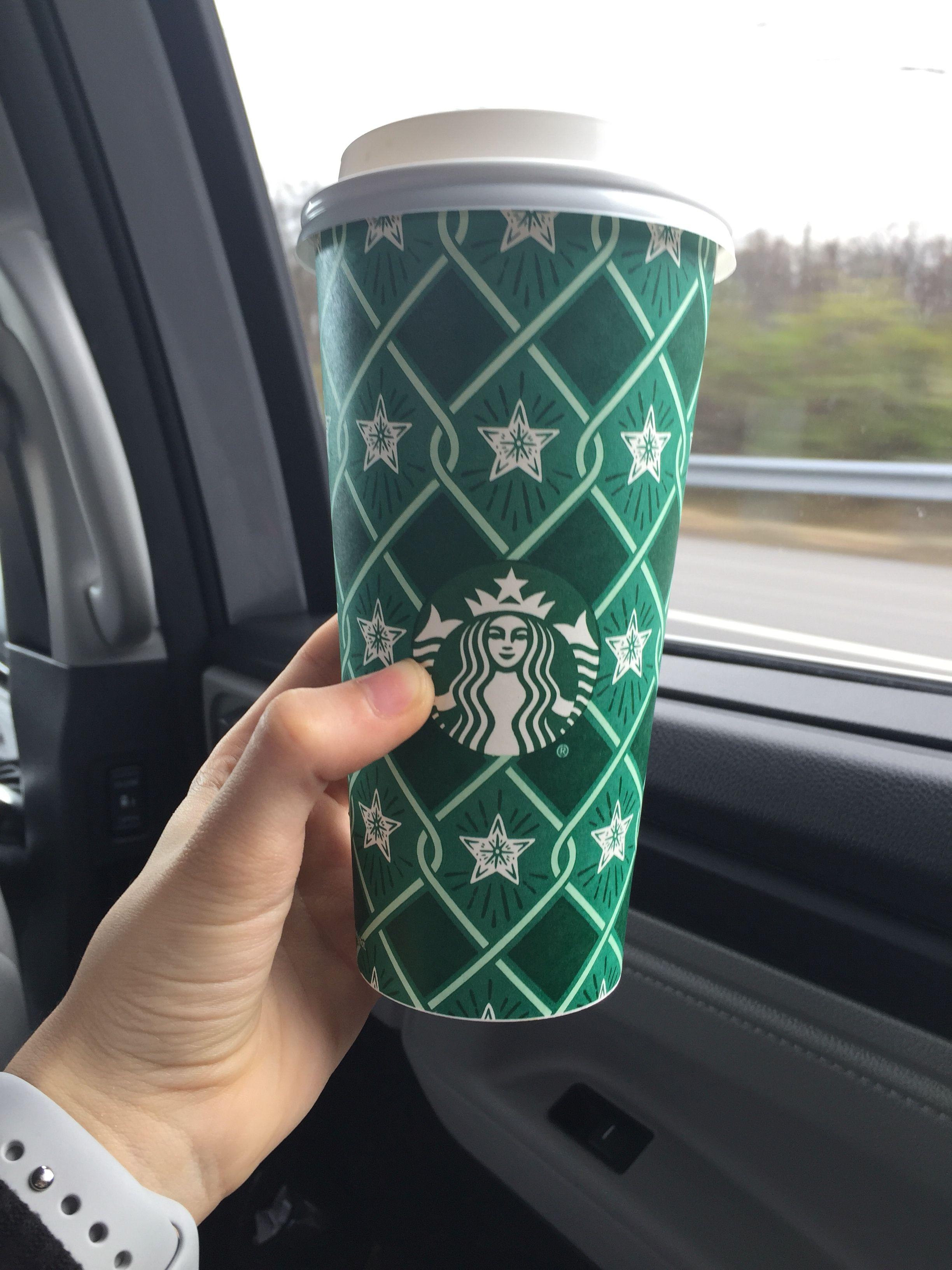 holiday green starbucks drinks cups winter
