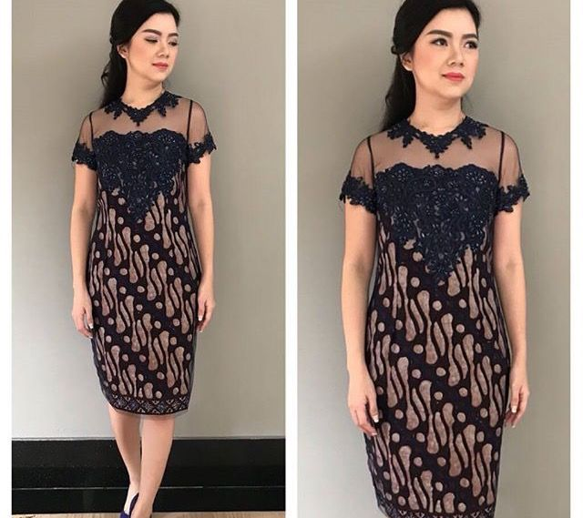 Model Dress Batik Model Batik Di 2019 Model Baju Wanita Gaun