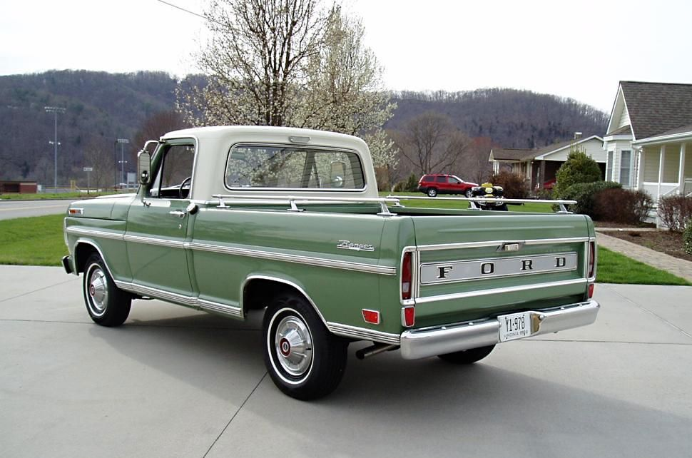 1969 ford f100 ranger the girls did not like this they called it the green slime pick up. Black Bedroom Furniture Sets. Home Design Ideas