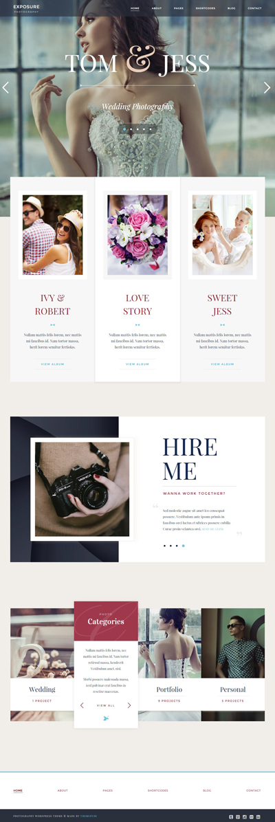 Exposure Responsive Photography WordPress Theme | Responsive ...