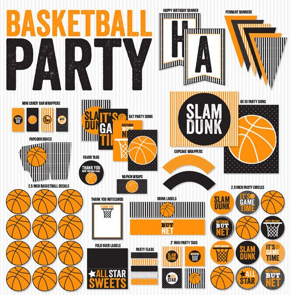 Pin By Missy Roe On Basketball Theme Birthday Basketball Party Happy Birthday Banner Printable Happy Birthday Banners